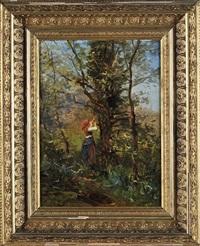 paisagem com figura feminina (cintra) by alfredo keil
