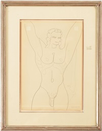 standing male nude (lincoln kirstein) by gaston lachaise