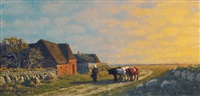 evening on sylt by franz korwan