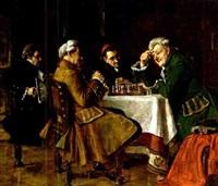 herren beim schachspiel by hans kratzer