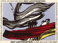 brushstrokes poster by roy lichtenstein