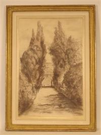 vue des jardins de la villa d'este by audrey duncan