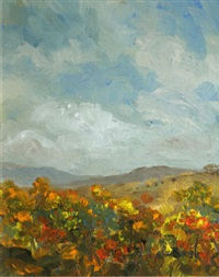 landscape with gorse, dromara by harry reid