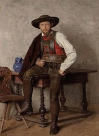 tiroler in tracht by emil strecker