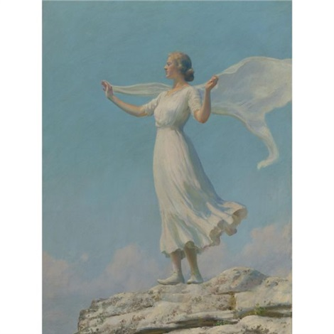 the south wind the breezy day by charles courtney curran
