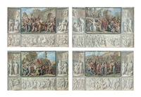 scenes from roman history (set of 4 works) by luigi ademollo