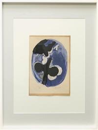 deux oiseaux sur fond bleu by georges braque
