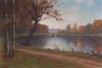 effet de lumière sur un lac by jean-joseph enders