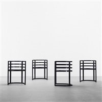 armchairs (set of 8) (model 810a) by richard meier