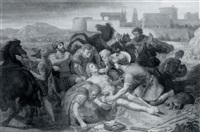 le médecin guérissant un soldat by henri renault