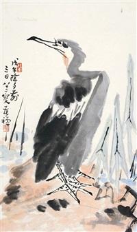 鹰 立轴 纸本 by li kuchan