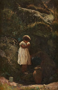 l'enfant à la source by sipke (cornelis) kool