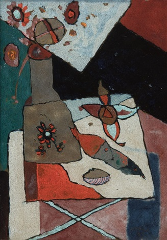 Artnet & Still life with flower vase and fish by Floris Jespers on artnet