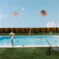 flying umbrellas by julie blackmon