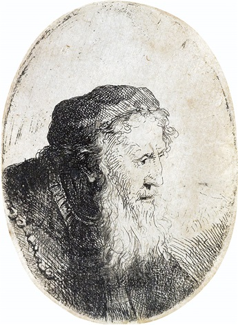 bearded old man profile to right by ferdinand bol