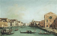 the grand canal, venice, looking north-east (from santa croce to san geremia) by canaletto