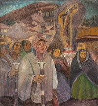 procession by jose sabogal