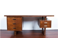 double pedestal desk by paul kafka