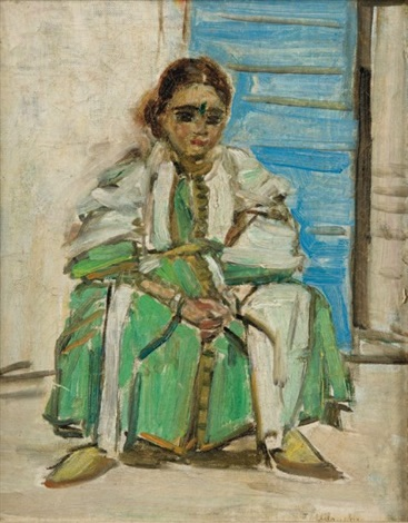 jeune berbère assise by louise lucas bedouille