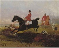 the hunt (+ another; 2 works) by hans (johann) haag