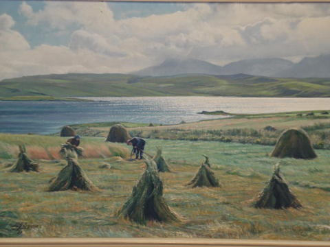 crofters making hay by hubert j squires