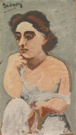 portrait of a woman the artists wife by arshile gorky