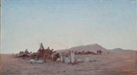 le campement des nomades by léon adolphe legendre