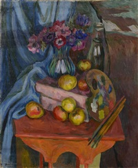 composition aux fruits et à la palette by waclaw zawadowski