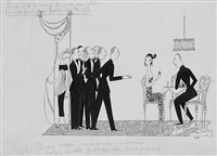 six illustrations for vanity fair by anne hariet (sefton) fish