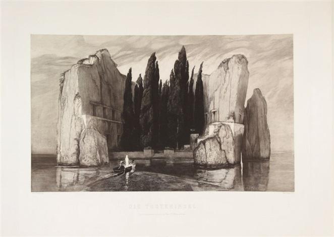 die toteninsel (l'isola dei morti) by max klinger