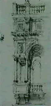 the loggia of a palace : section by filippo juvara