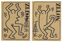 untitled (2 works) by keith haring