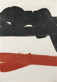 lithographie n°27 by pierre soulages