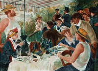 renoir (luncheon of the boating party) by mark tansey