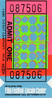 lincoln center ticket by andy warhol