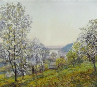 early morning sunlight, spring by edward willis redfield
