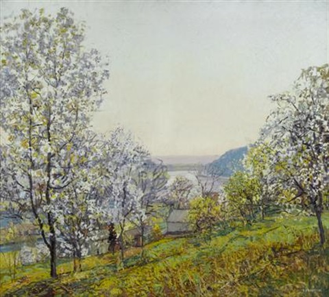 early morning sunlight spring by edward willis redfield