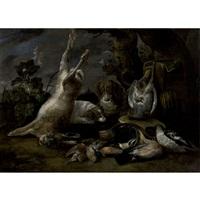 chiens gardant le gibier by david de coninck