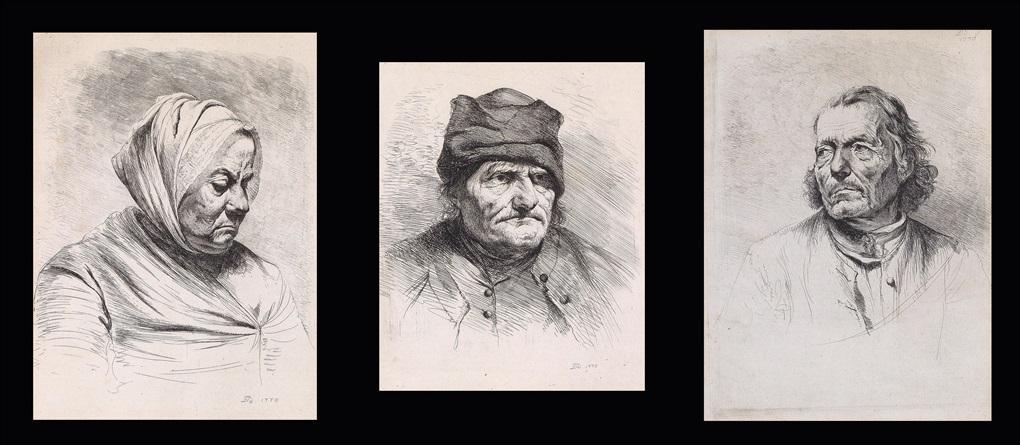 porträt- und tierstudien (9 works) by jean-jacques de boissieu