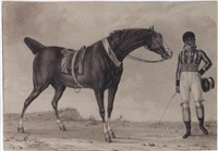 a horse and his creole jockey by reinier vinkeles