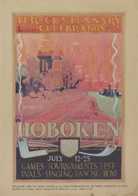 hoboken/ter-centennary celebration (study) by august hutaf