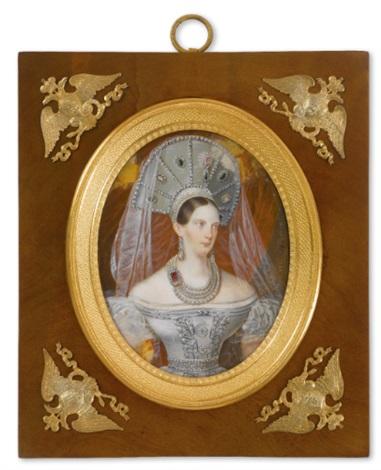 a portrait of empress alexandra fedorovna by franz krüger