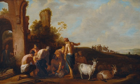 joseph is sold by his brothers by claes cornelisz moeyaert