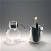 krug und eiskübel mit eiswürfelzange (set of 2) by lino sabattini