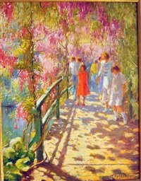 promenade à giverny by claude fossoux