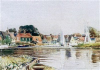 the broads - morning from southgates by charles mayes wigg