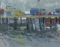late evening light, sennen (+ newlyn pier; 2 works) by bo hilton