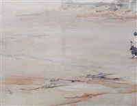 morning quiet (figures on a beach) by elizabeth wentworth roberts