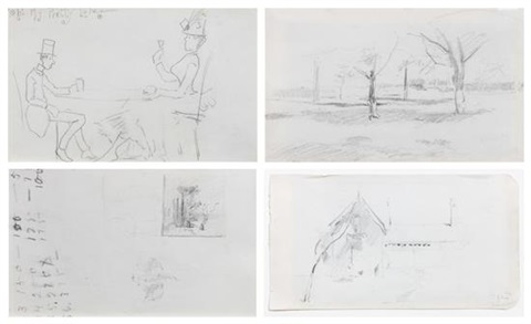 untitled two double sided works by john henry twachtman