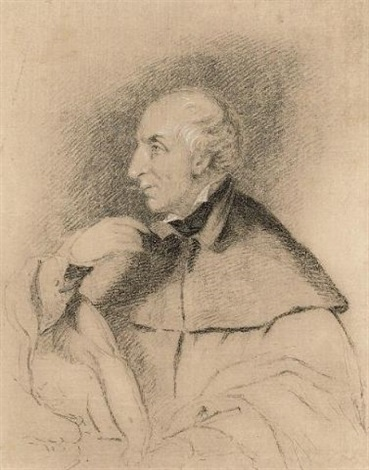 portrait of william wordsworth sketch ink verso by benjamin robert haydon